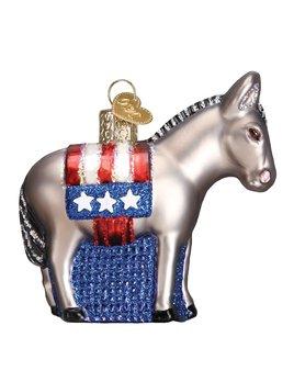Old World Christmas Democrat Donkey Ornament