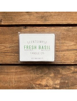 ScentSimple Candle Co. Fresh Basil Scented Soy Wax Melt