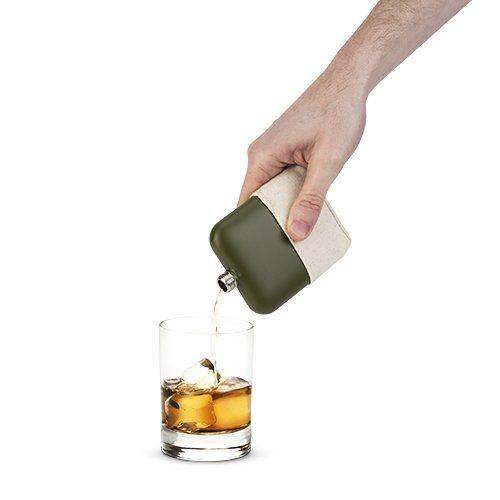 True Matte Army Green Flask