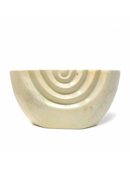 Global Craft Soapstone Natural Cream Color Menorah