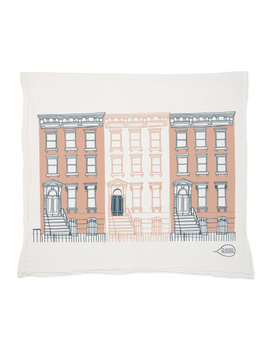 Claudia Pearson Brownstone Tea Towel