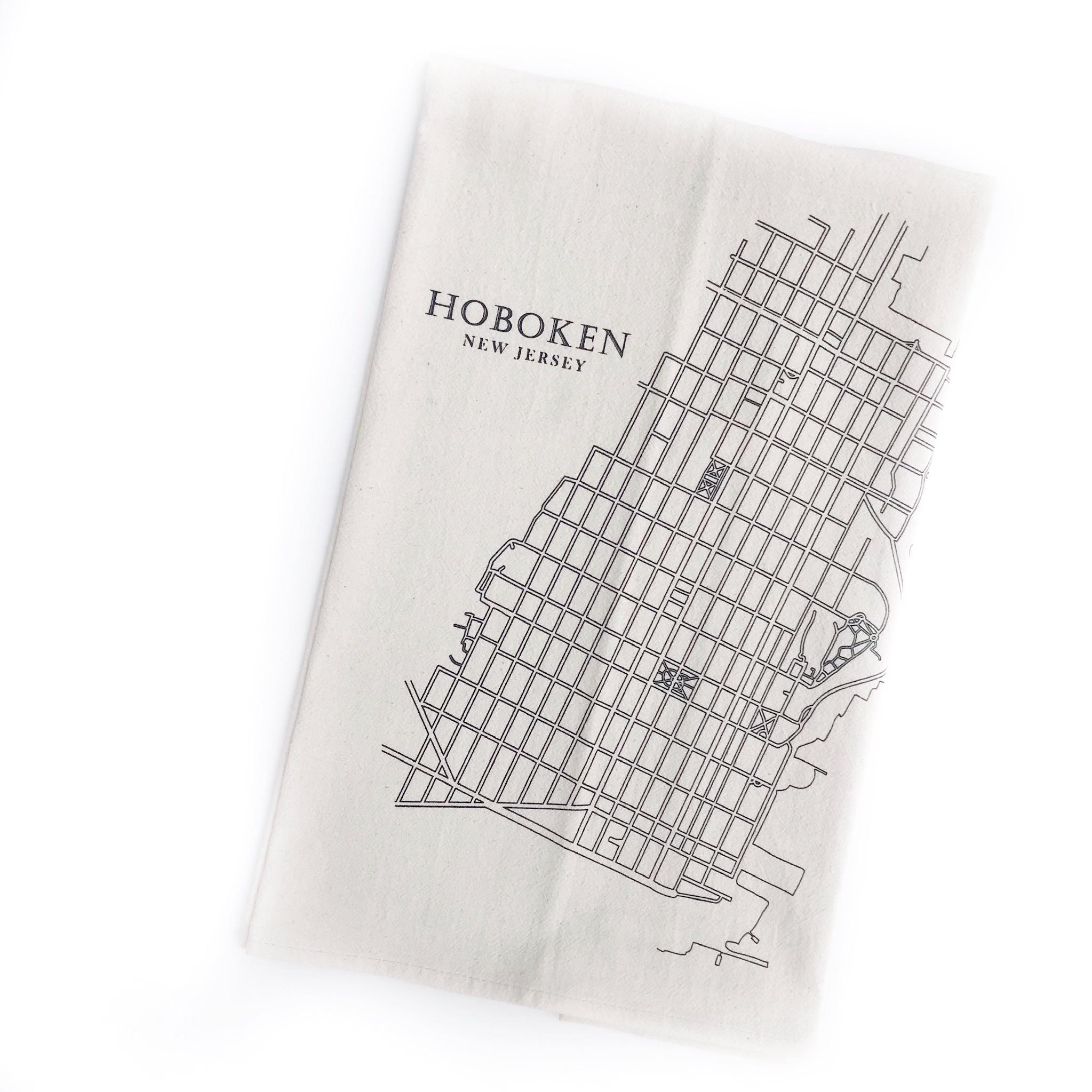 Eric & Christopher Hoboken Map Tea Towel