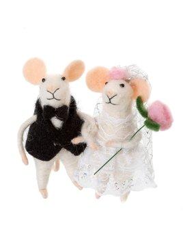 Indaba Newlywed Mice Ornament