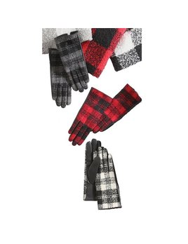 Mudpie Buffalo Check Gloves