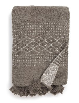 Barefoot Dreams Cozychic Luxe Casa Throw - Charcoal