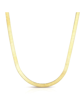 Two's Company 18K Gold Plated Herringbone Chain Necklace