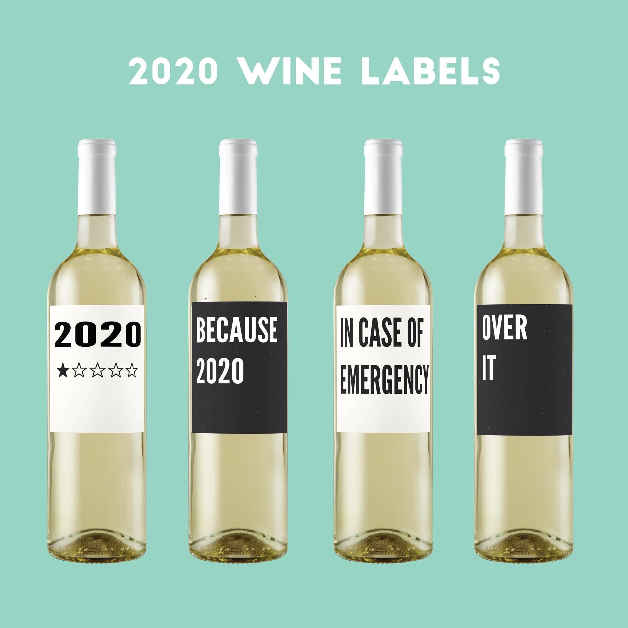 Crimson and Clover Studio 2020 Wine Labels