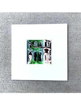 Shannon Harfosh Brownstone Painting by Shannon Harfosh - Small