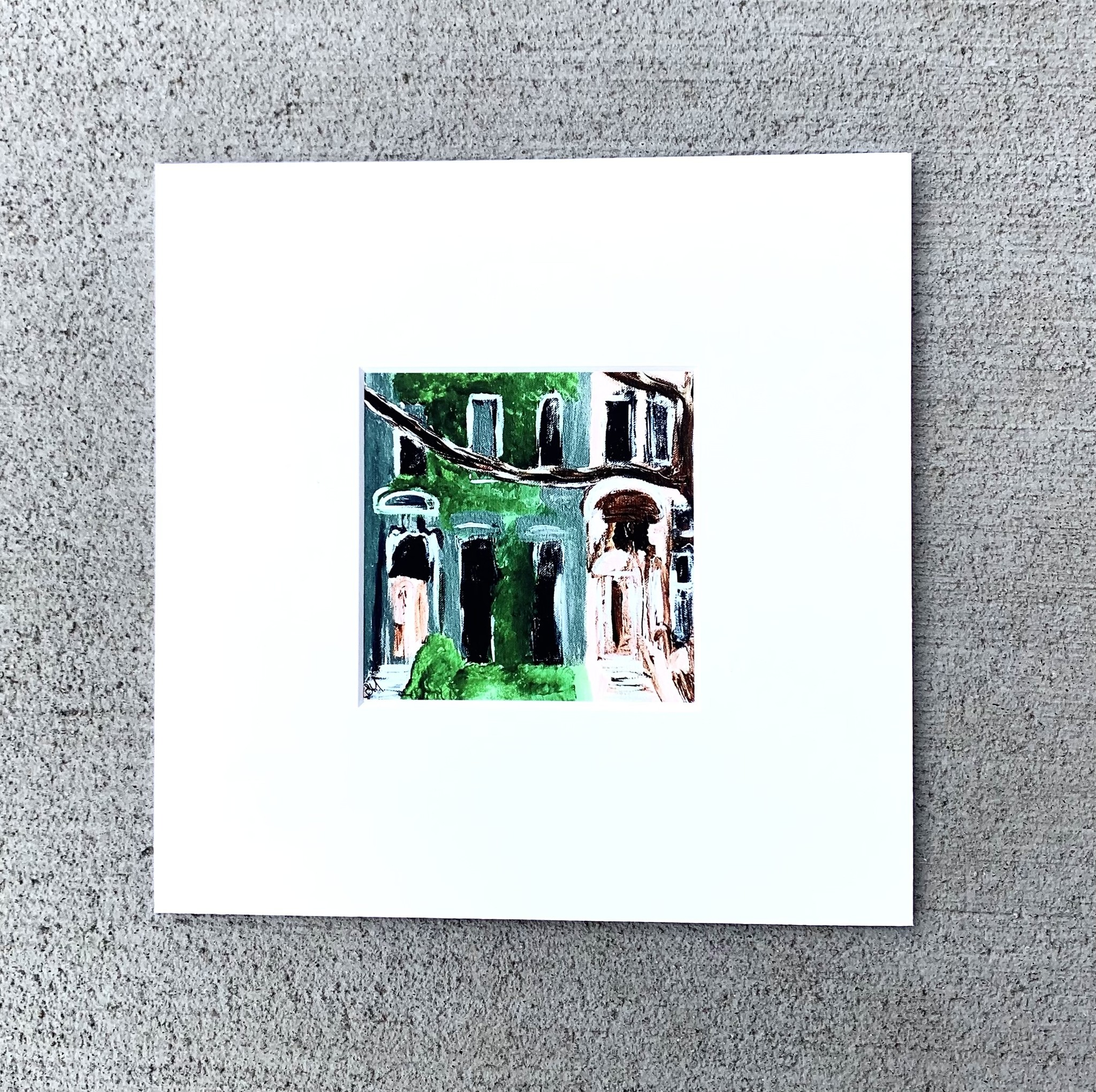 Shannon Harfosh Brownstone Painting by Shannon Harfosh - Small