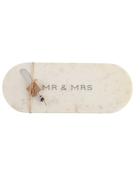 Mudpie Mr & Mrs Marble Board Set