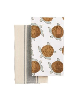 Mudpie Sea Towel Set - Turtle