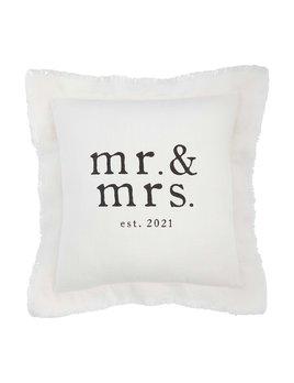 Mudpie Mr Mrs Est 2021 Pillow - Square