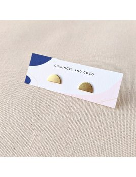 Chauncey and Coco Everyday Semicircle Brass Studs