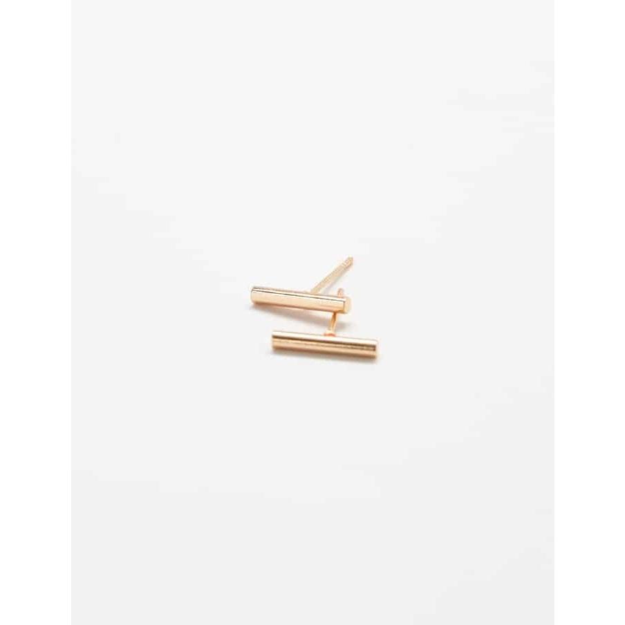Admiral Row Gold Slim Bar Earrings