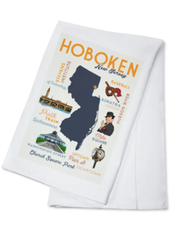 Lantern Press Towel - Hoboken, NJ - Typography & Icons