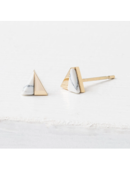 Starfish Project Cassia Gold & White Stud Earrings