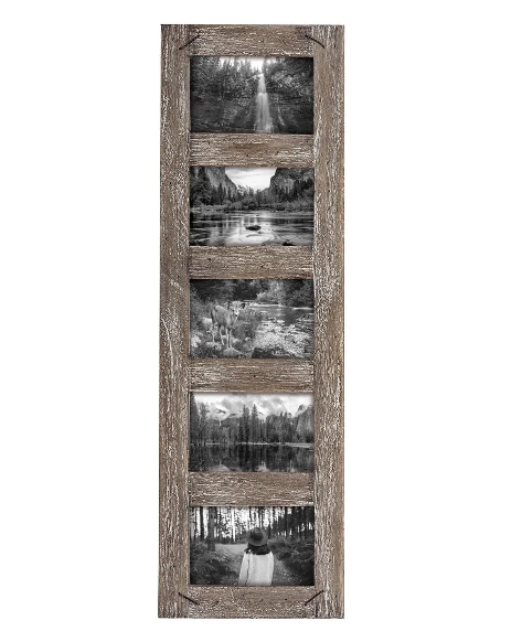 Foreside 4x6 Distressed Wood Picture Frame w/ Nail Accents