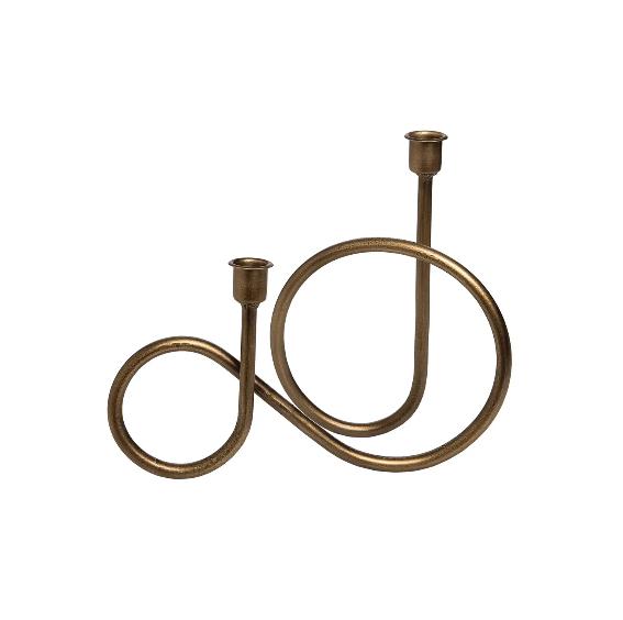 Foreside Brass Taper Holder