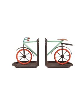Foreside Multicolor Bike Book Ends, Set of 2