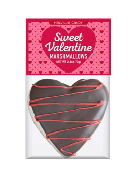 Melville Candy Chocolate Heart Marshmallow Topper