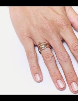 Lotus Jewelry Studio Letter Stacking Ring