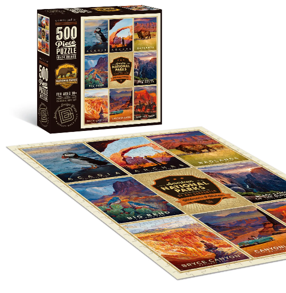 Americanflat Home 500 Piece Jigsaw Puzzle National Parks