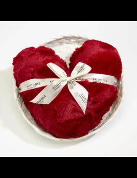 "Sonoma Lavender Heart Pillow Heatable - Lavender Red Fur 12"""