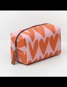 Caroline Gardner Cube Cosmetic Bag - Hearts