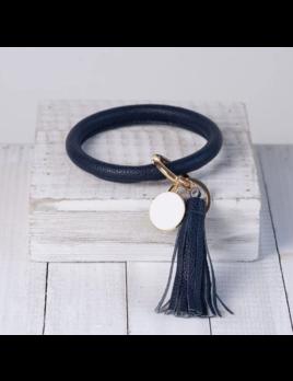 Lauren Lane Lauren Lane Halo Tassel Bracelet Key Chain Navy