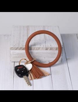 Lauren Lane Lauren Lane Halo Tassel Bracelet Key Chain Saddle
