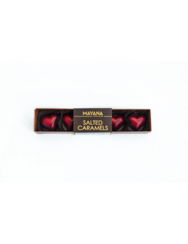 Mayana Chocolate 6 Piece Valentines Hearts -Salted Caramels
