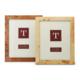 Two's Company Burled Wood Frame