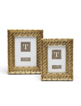 Two's Company Gold Weaves Frames