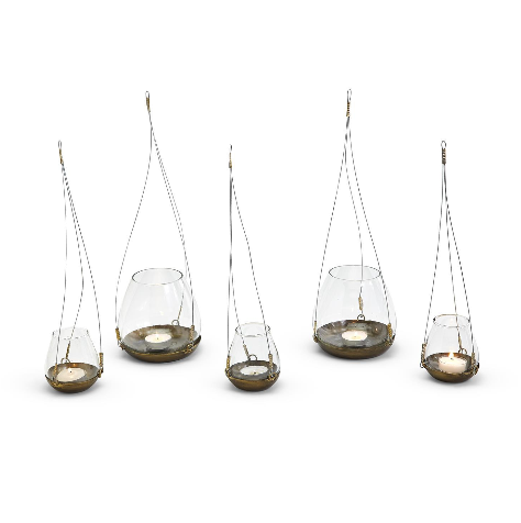 Two's Company Hanging Candle Holder