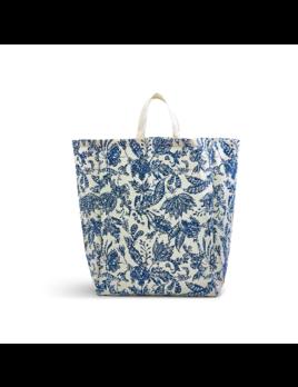 Two's Company Blue Batik Oversized Tote Bag