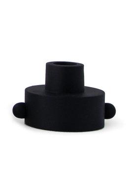 Paddywax Black Dual Function Taper & Tealight Holder