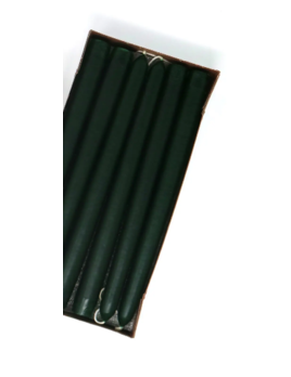 "Mole Hollow Candles 10"" Hunter Green Taper Candle Pair"