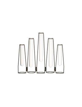 Bloomingville Metal Vase w/ 5 Test Tubes - Black