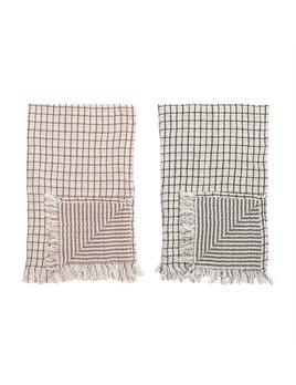 Bloomingville Cotton Double Cloth Kitchen Towel - Grid/Stripes