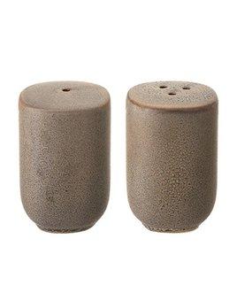 Bloomingville Stoneware Salt & Pepper Shakers - Matte Grey - Set of 2