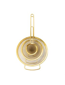 Bloomingville Gold Stainless Steel Strainers