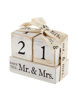 Mudpie Countdown Mr & Mrs Block Set