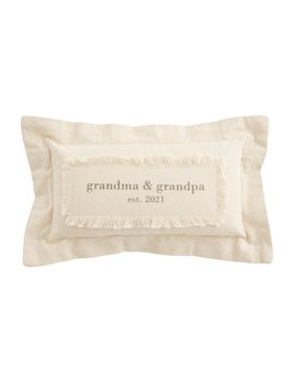 Mudpie Grandparents Est. 2021 Pillow