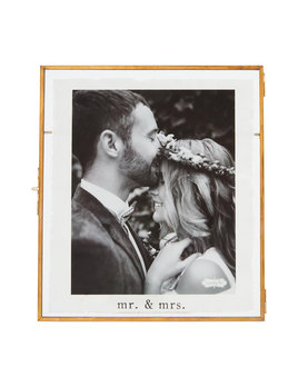 Mudpie Large Mr. & Mrs. Glass Frame