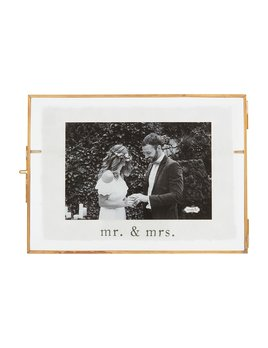 Mudpie Small Mr. Mrs. Glass Frame