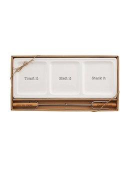Mudpie S'More Tray & Skewer Set