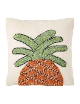 Mudpie Pineapple Hooked Pillow - Colored