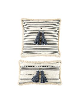 Mudpie Stripe Tassel Pillows