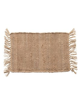 Creative Co-op Woven Cotton & Jute Placemat w/ Tassels - Natural