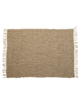 Creative Co-op Hand - Woven Acrylic Blend Throw w/ Tassels - Grey